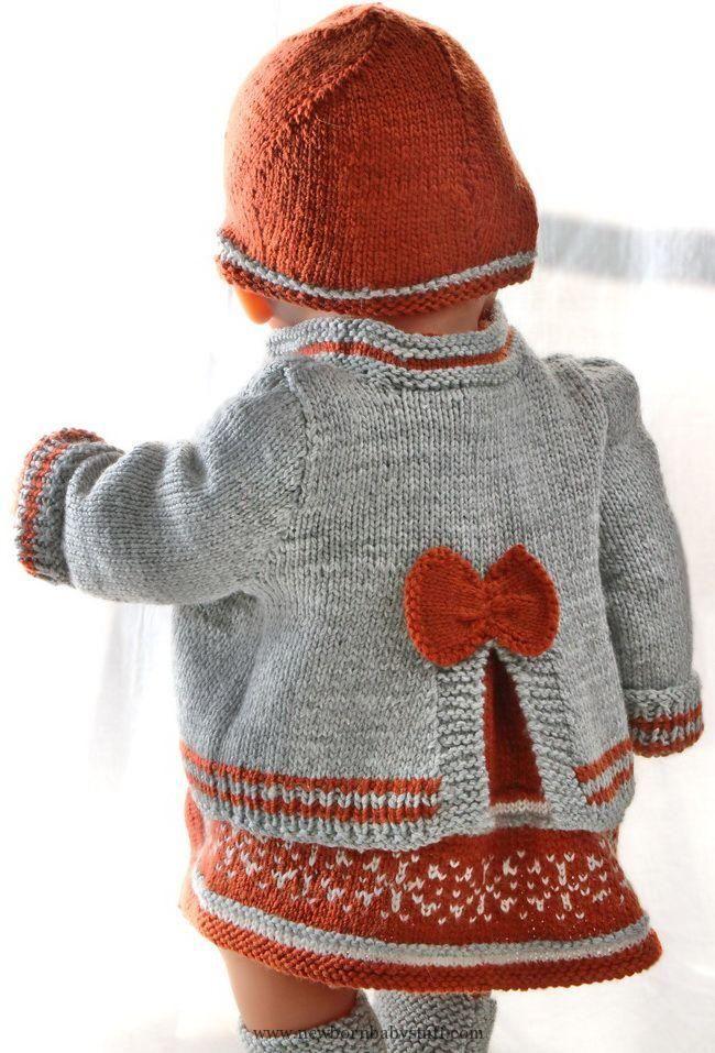 Baby Knitting Patterns Strickanleitung Puppenkleider Doll