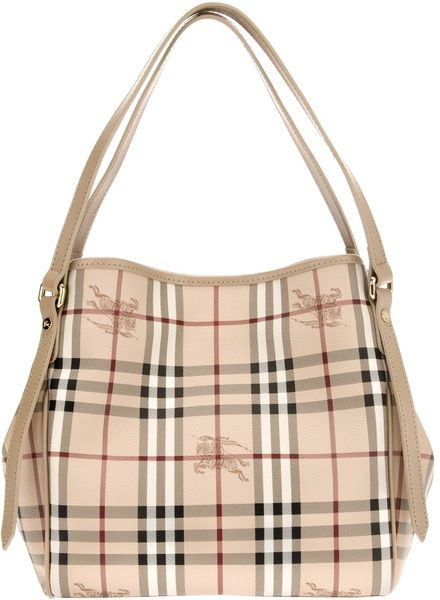 1c90a958a12a BURBERRY Check Print Tote - Lyst