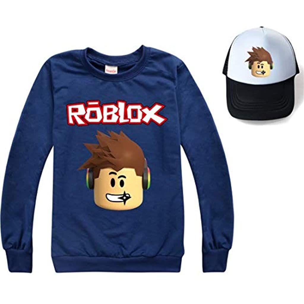 Kids Roblox Long Sleeve Tops Baseball Cap Suits Boys Girls Sweatshirts Hat Set Jumper Sport Pul In 2020 [ 1024 x 1024 Pixel ]