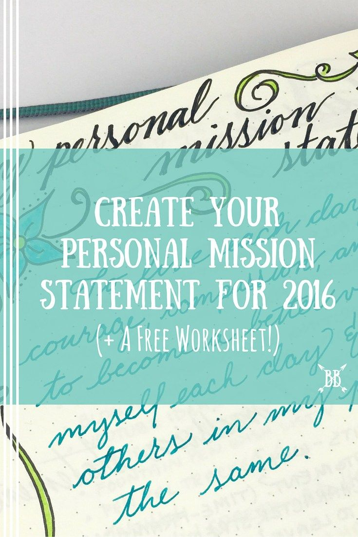 worksheet Personal Mission Statement Worksheet crafting your personal mission statement for 2016 rock learning 2016