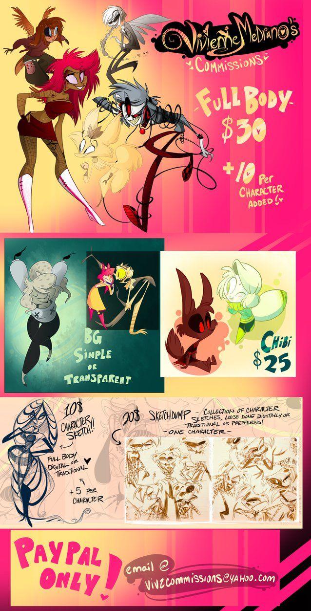 Commissions By Vivzmind On Deviantart Cool Drawings Lyrics Art Art