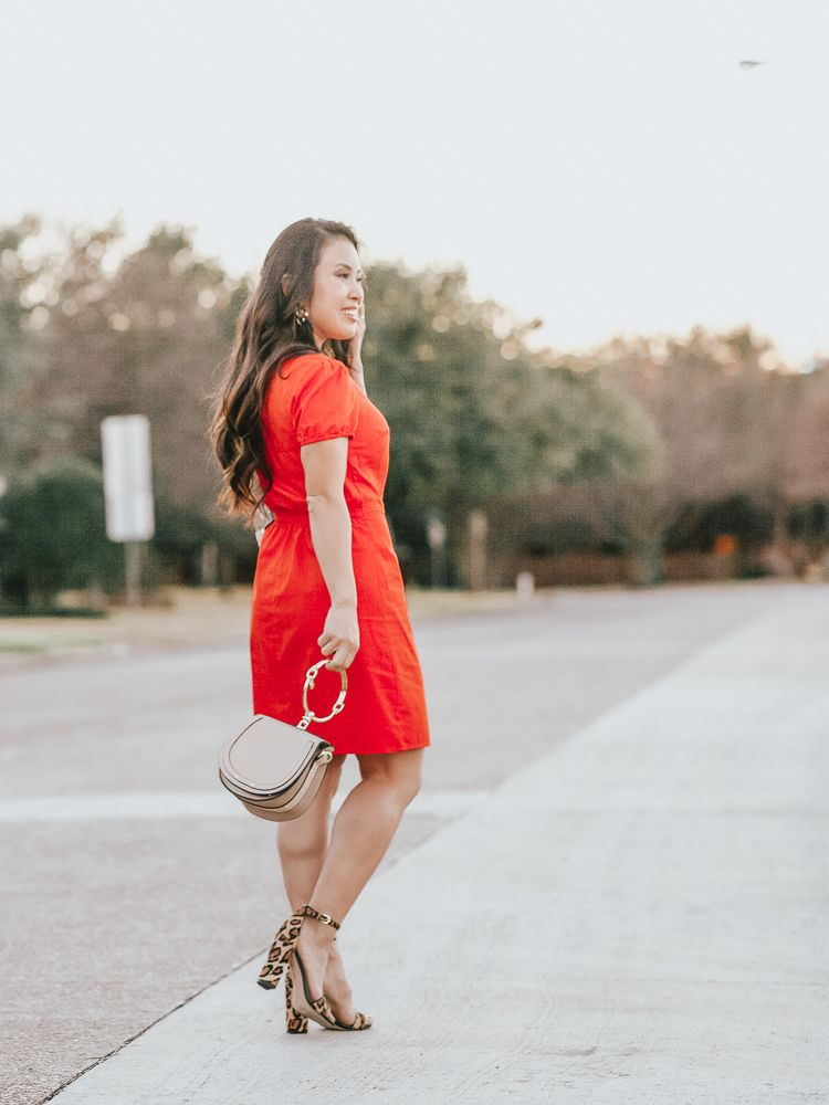 652f6b36e8 cute & little | dallas petite fashion blog | express surplice button front  wrap dress,