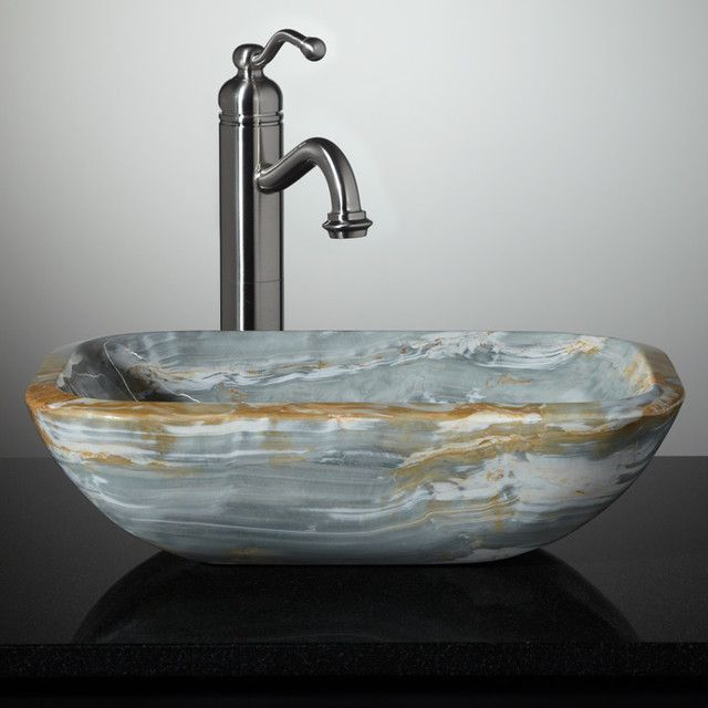 free three pin standard river granite drain sinks in balinese boulders shipping the options of hand crafted fits smaller from bathroom unique stone