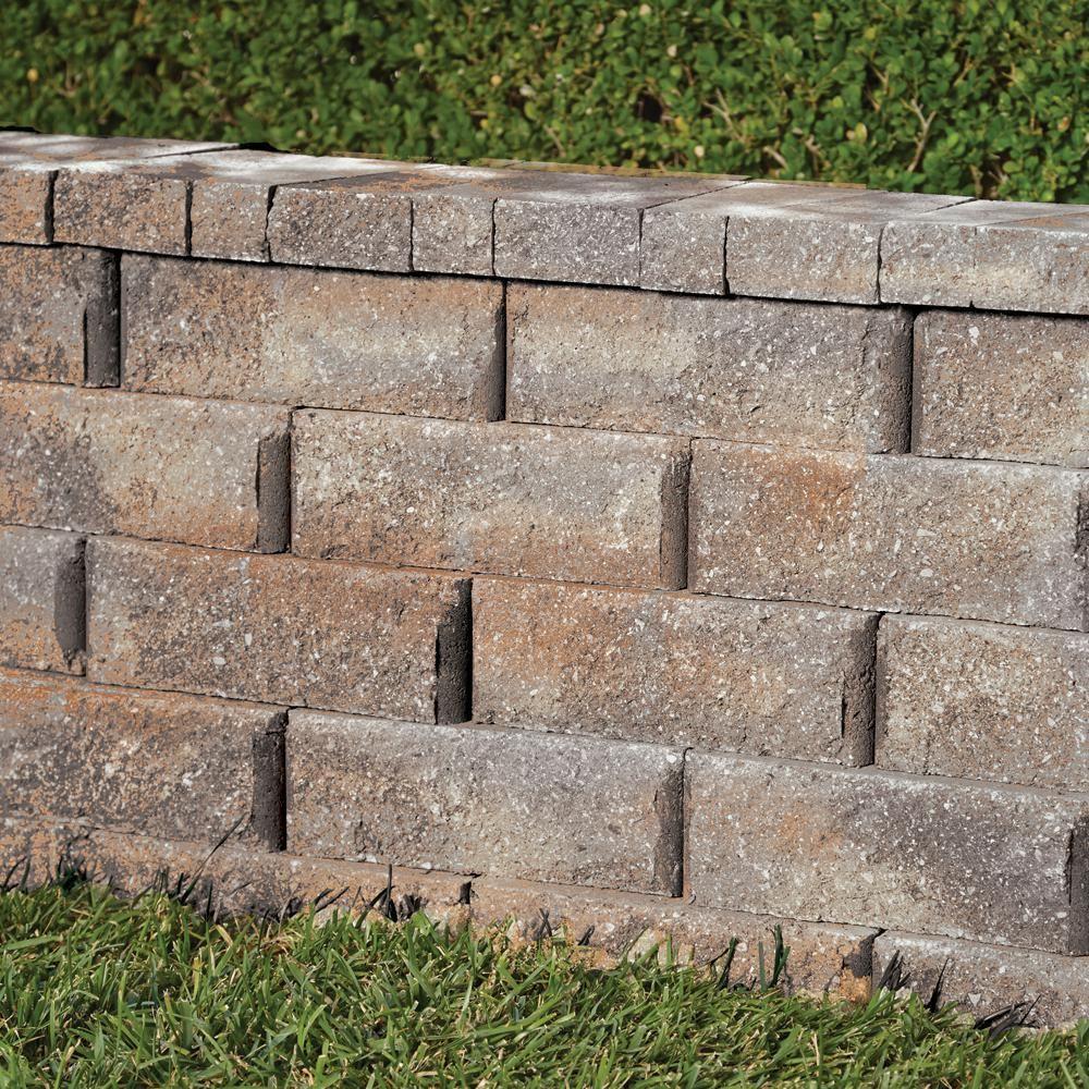 Pavestone Rockwall 2 In X 4 25 In X 9 In Yukon Concrete Wall Cap 320 Pcs 89 Lin Ft Pallet 7 Concrete Retaining Walls Retaining Wall Concrete Garden