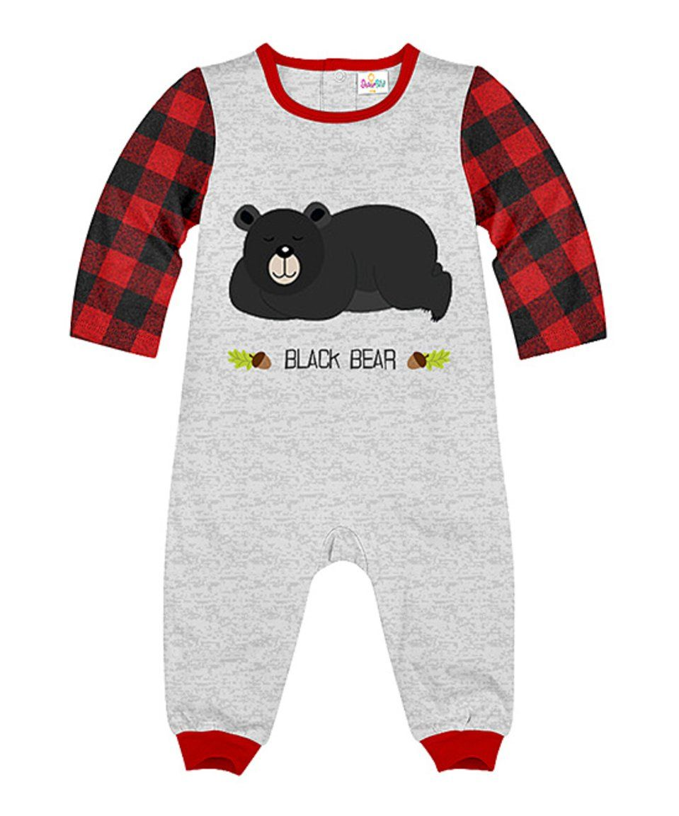 8ac4b32d4 Take a look at this Gray Heather   Plaid  Black Bear  Playsuit ...