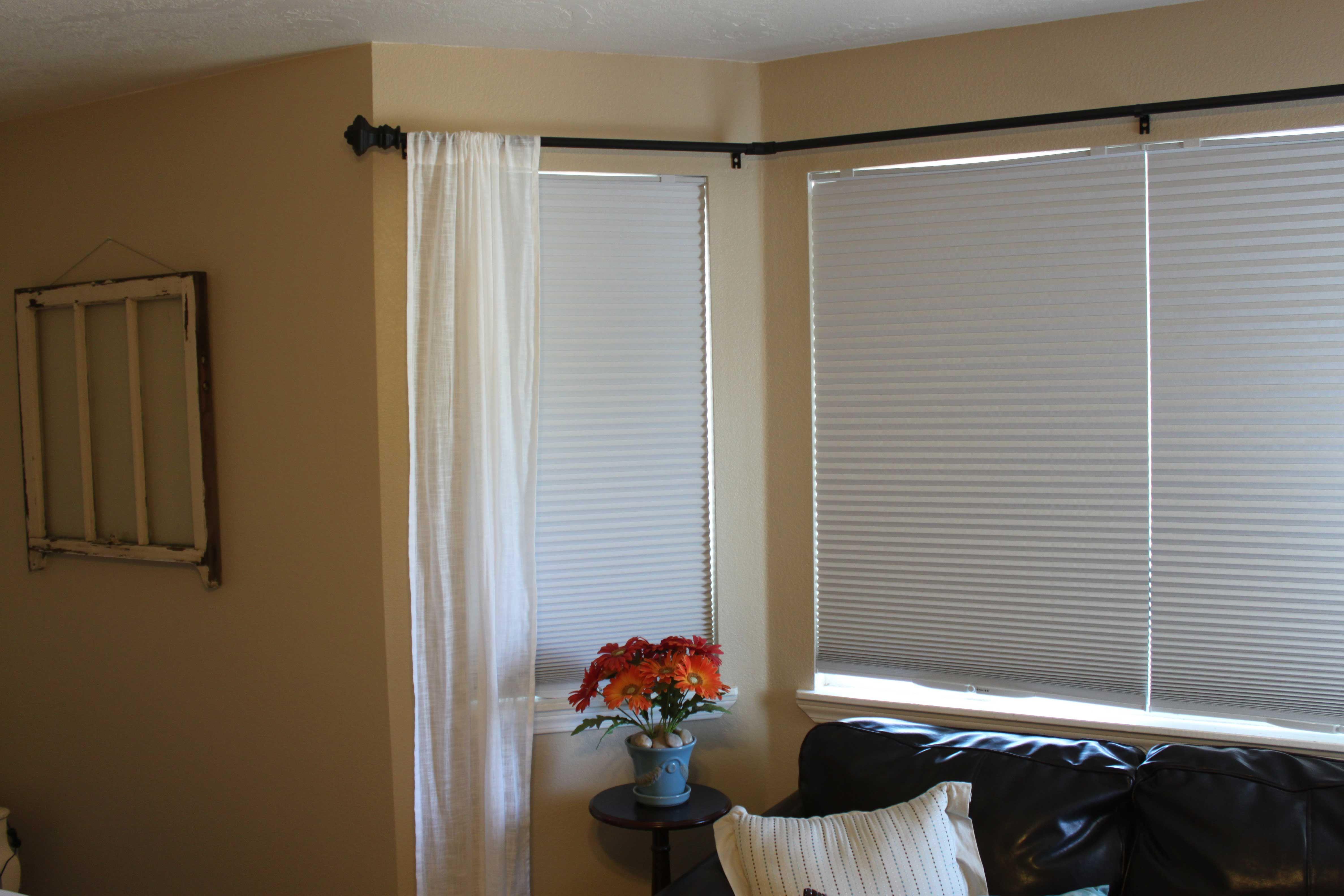 DIY Bay Window Curtain Rod Pinching Your Pennies home