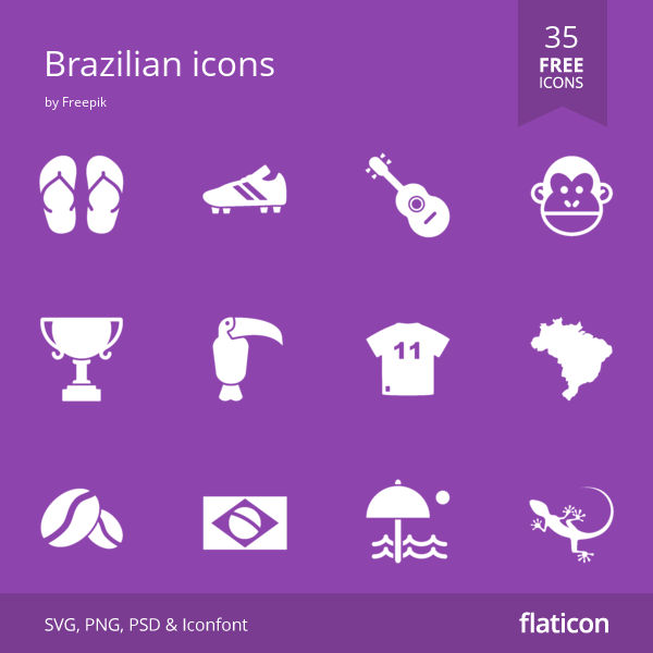 35 free vector icons of Brazilian icons designed by Freepik