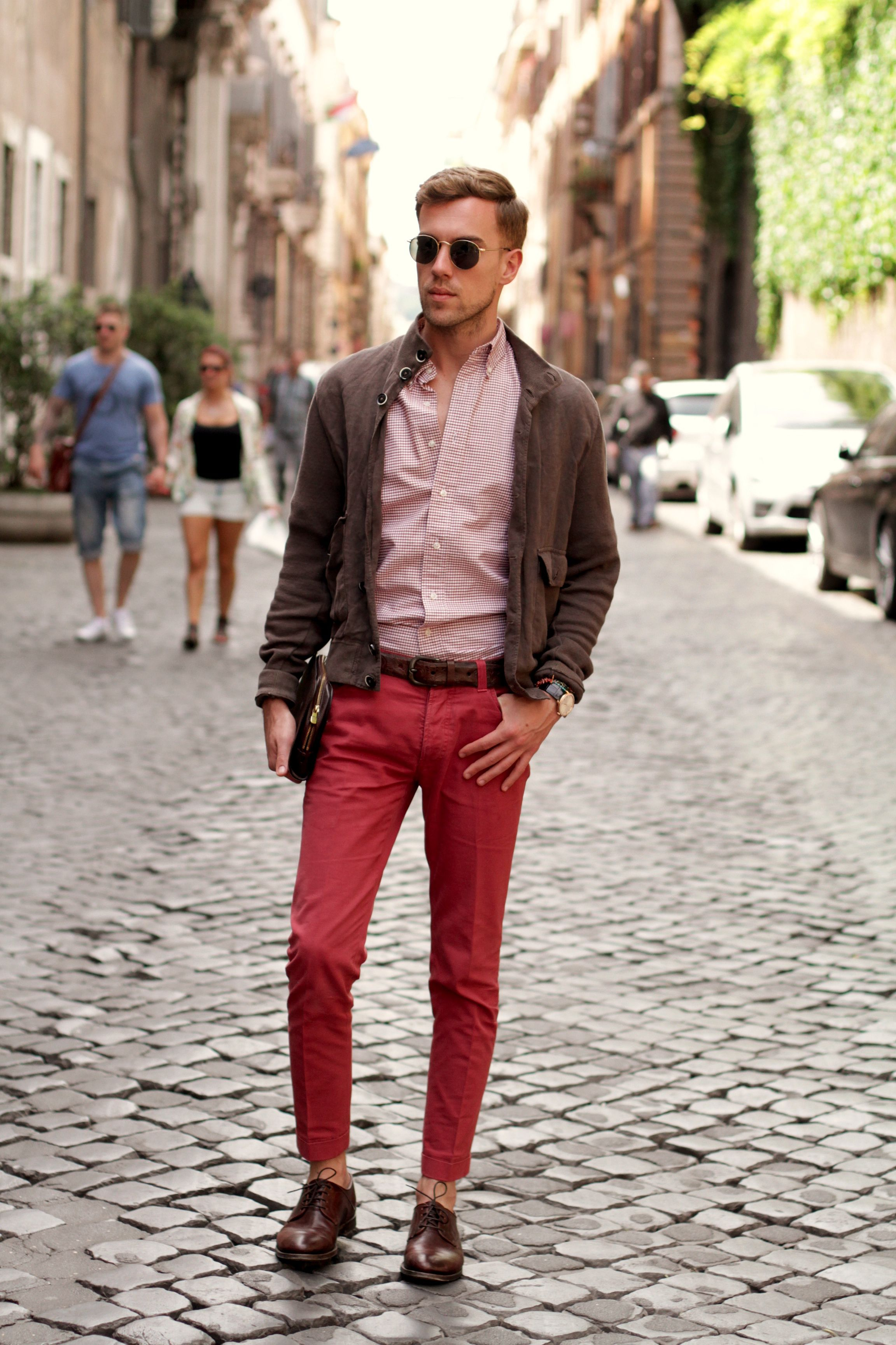 7a972efdd22 Filippo Cirulli of TheThreeF  fashion  blog is wearing Fabi shoes in  Rome.