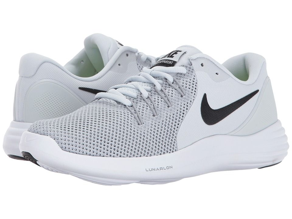 0c2c368195d9 Nike Lunar Apparent (Pure Platinum Black Wolf Grey Cool Grey) Women s