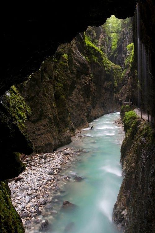 Partnach Gorge, Bavaria, Germany.