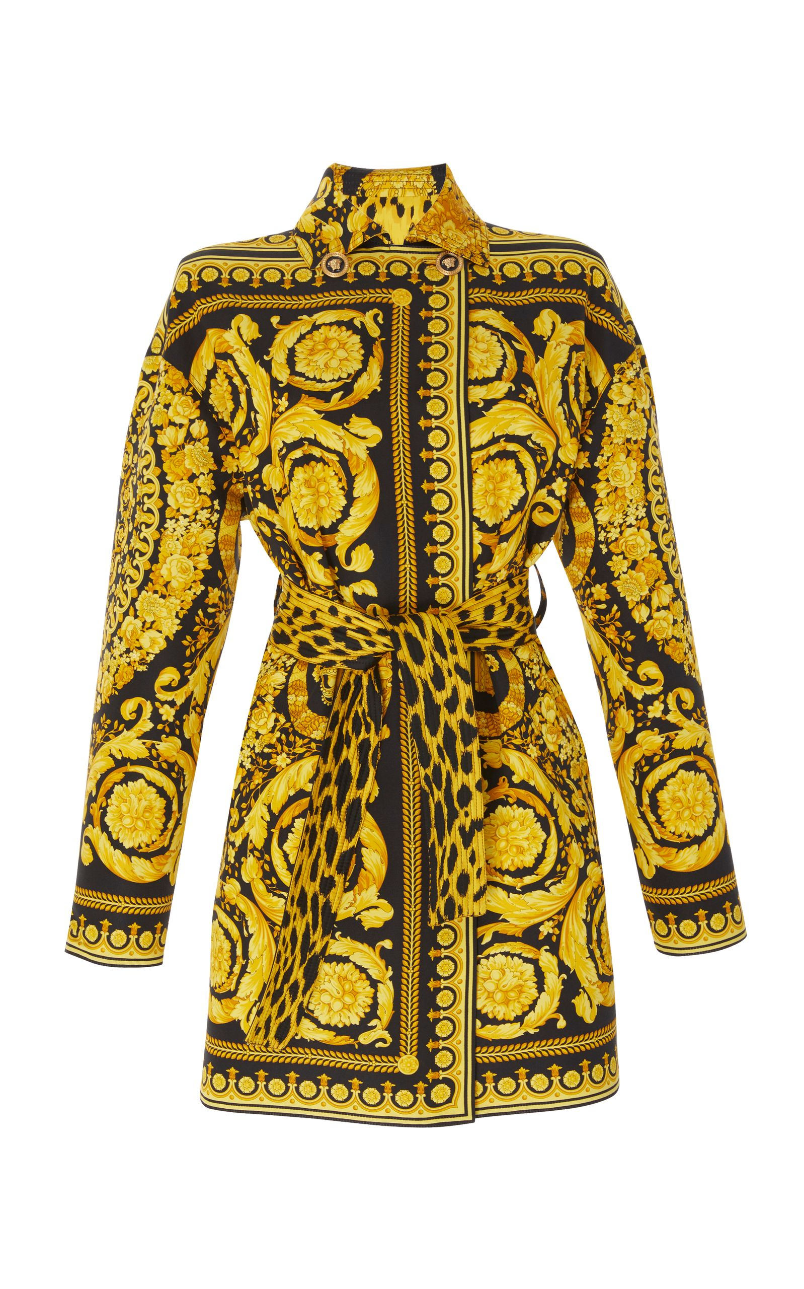 343d927e65d9 VERSACE BAROQUE PRINT TRENCH COAT.  versace  cloth