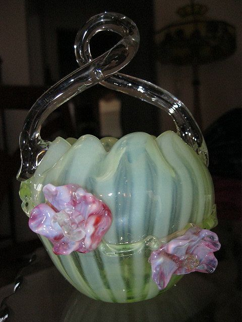 Stevens and Williams Art Glass Basket,1800's