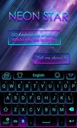 Neon Star Emoji Keyboard Theme Free Android Theme Download Download The Free Neon Star Emoji Keyboard Theme Theme To Emoji Keyboard Star Emoji Android Theme