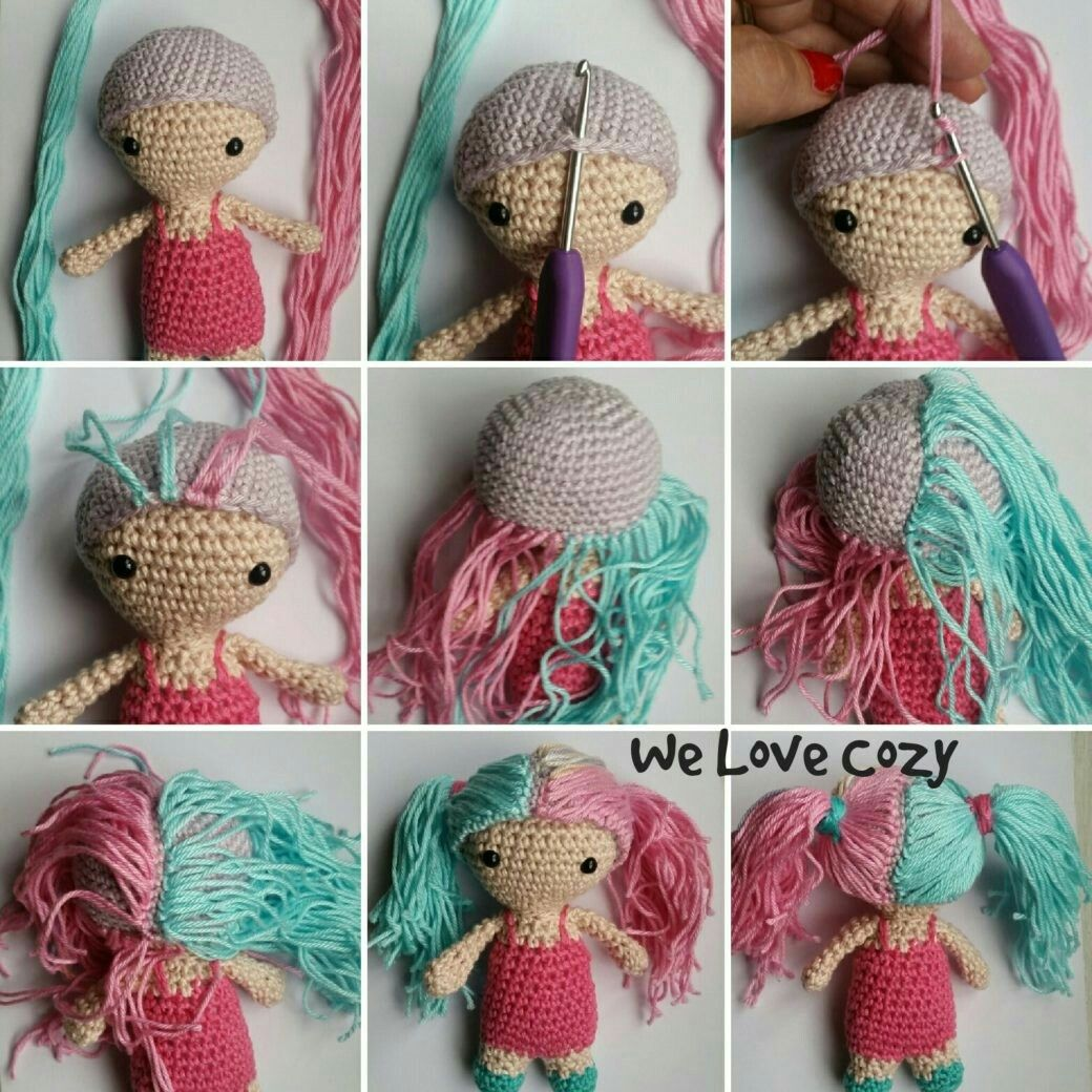 How to Crochet Curly Doll Hair - YouTube | 1040x1040