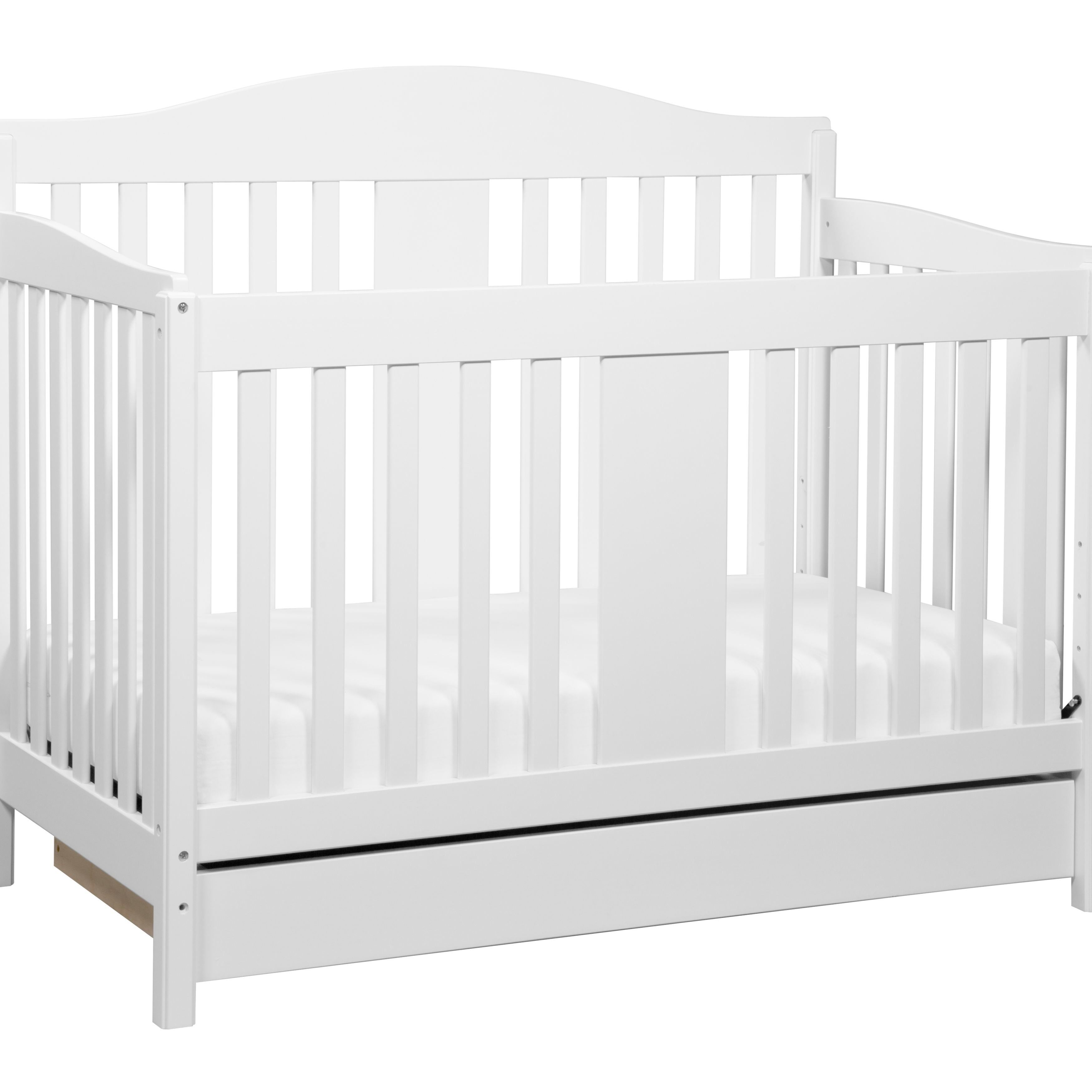The solid Richmond 4-in-1 Convertible Crib brings classic design and rich quality to baby's nursery. A smooth under-crib drawer conveniently holds baby's bedding necessities. The Richmond Crib with drawer adapts through the years with your child.