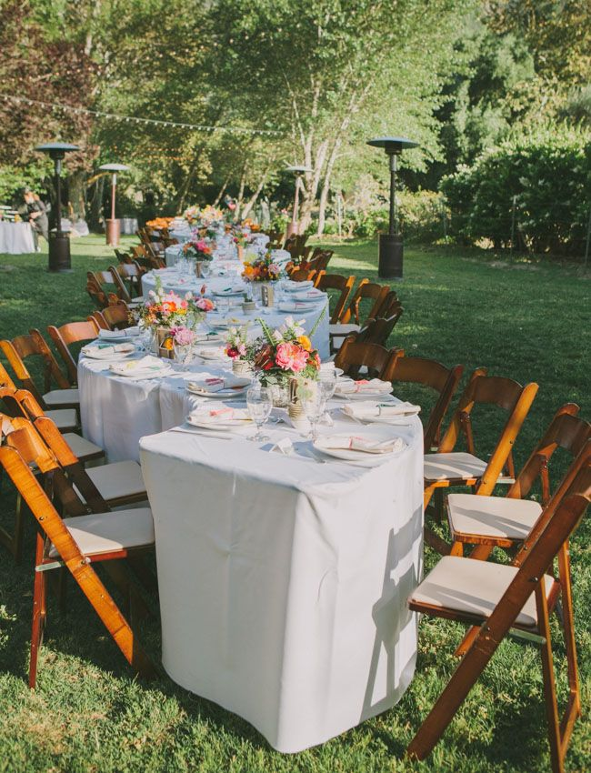 Colorful Outdoor Ojai Wedding Ashley Denni Diy Wedding Reception Wedding Reception Tables Ojai Wedding