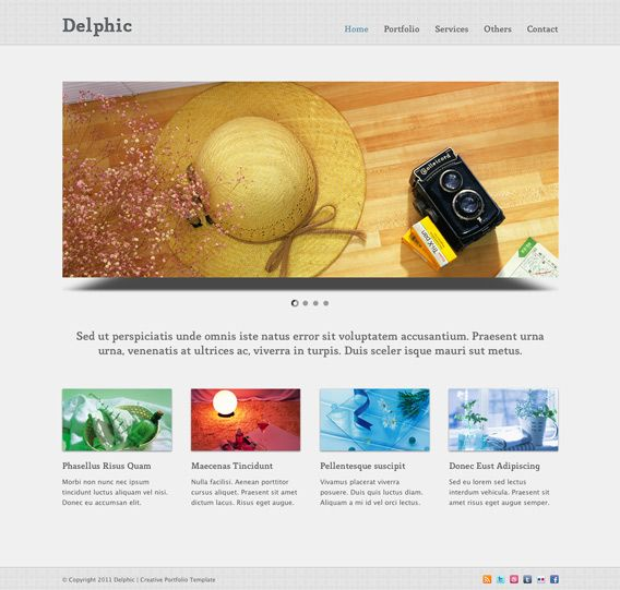 Clean Minimalist HTML CSS Template : Delphic | Downloads ...