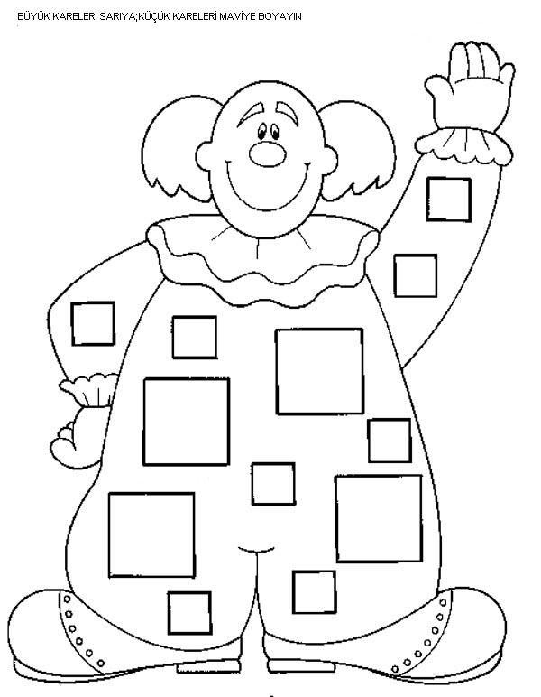 preschool_square_worksheets_trace_and_color (16) MAT Pinterest - new circus coloring pages for preschool