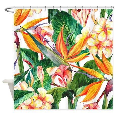 Bird Of Paradise Shower Curtain On CafePress