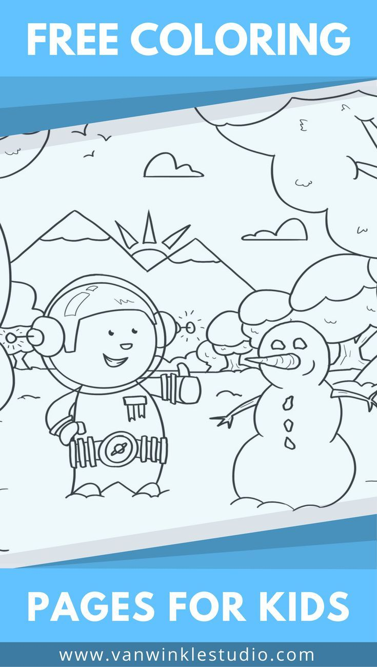 Free Snow Themed Coloring Pages For Kids Coloring Pages For