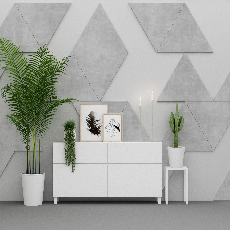 Triangles Decorative Wall Art 20 Triangles Per Pack Geometric 3d Shapes Geometric Wall Design Sku Tri20 Wall Design Wall Art Decor Geometric Wall
