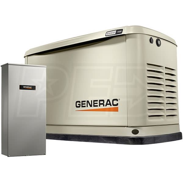 Generac Guardian 7033 11kw Aluminum Standby Generator System 200a Service Disconnect Ac Shedding Free Wireless Monitor 6664 Transfer Switch Wifi Protecting Your Home