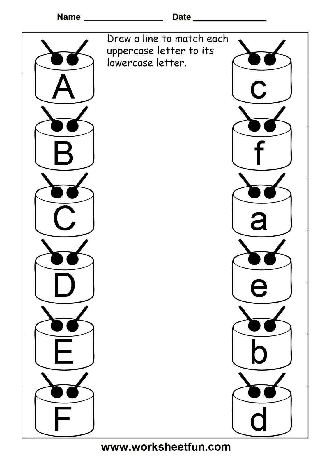 8 Uppercase And Lowercase Worksheets In 2020 Letter Worksheets Free Printable Math Worksheets Preschool Worksheets