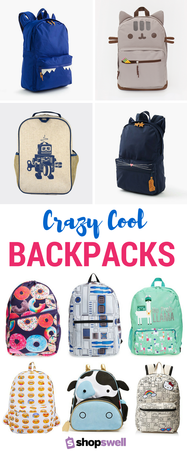 a429550fbf These kids  backpacks are so crazy cool they ll make you wish YOU were  going back-to-school. Shop the fun school essentials collection now!