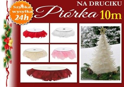 Piorka Piora Na Druciku Girlanda 5 Kolor Swieta 6550490667 Oficjalne Archiwum Allegro Christmas Ornaments Holiday Decor Christmas Tree Skirt