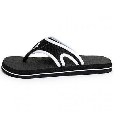POLO ABBOTT PS LITTLE KIDS 96931 Black White Thong Sandals Slides Youth Size 4