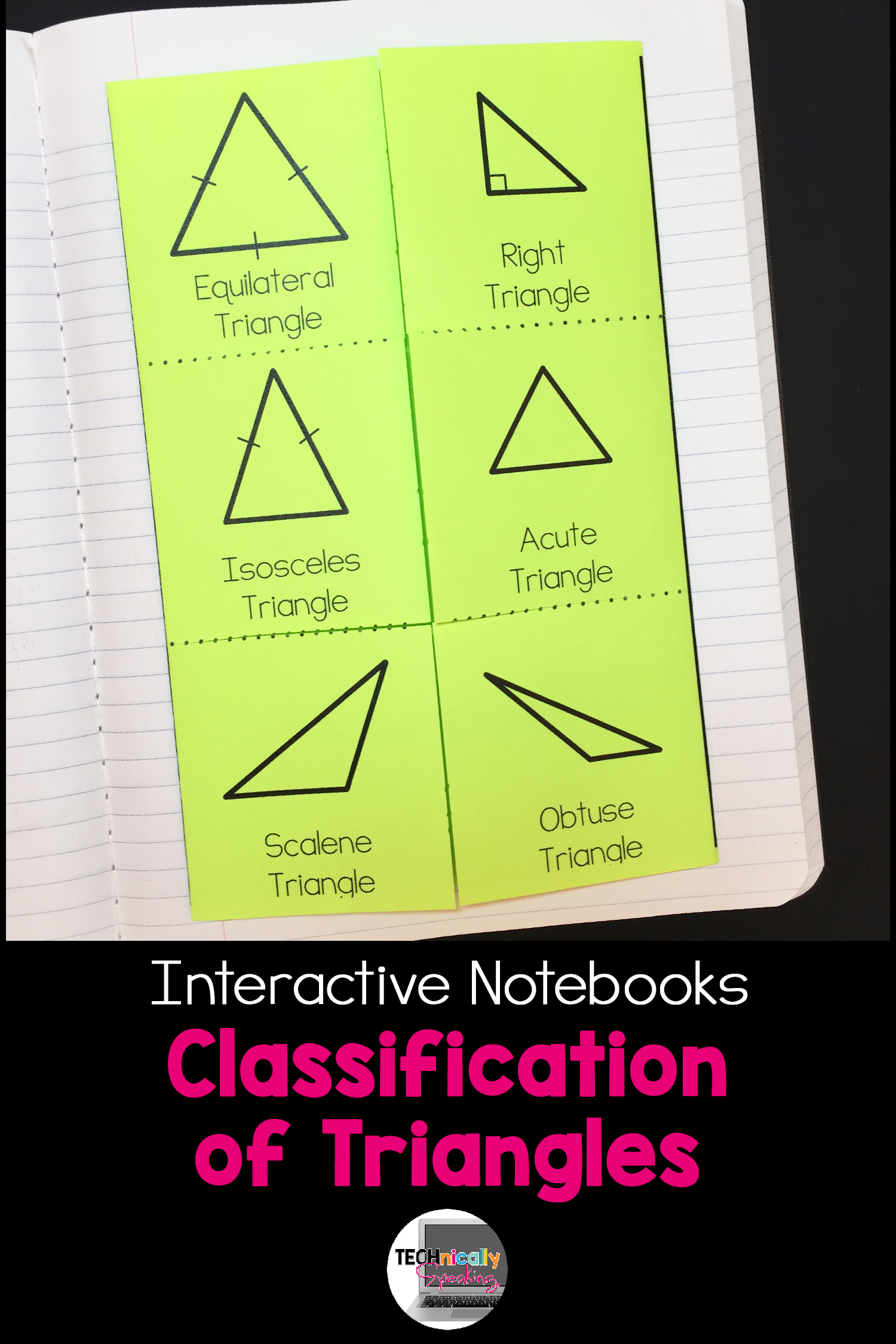 Types Of Triangles Posters And Interactive Notebook Inb