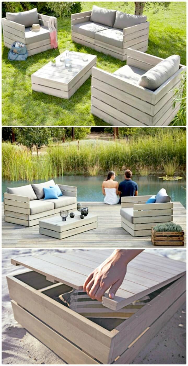 54 Diy Garden Furniture Ideas To Update Your Home Outdoor Pallet
