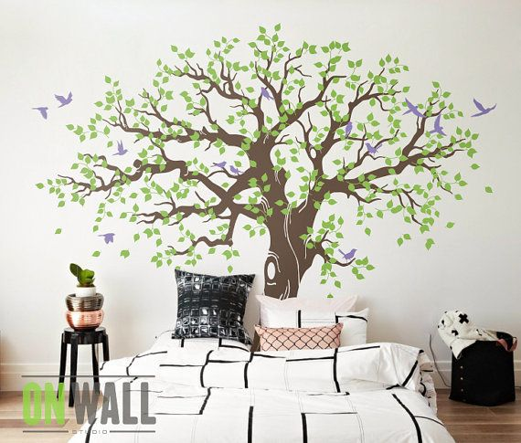 Good Large Family Tree Wall Decal Nursery Tree Wall By ONWALLstudio