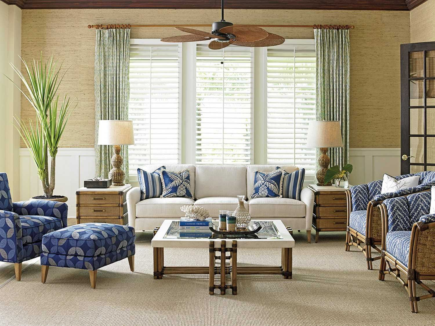 Tommy Bahama Twin Palms Living Room Set  Living room sets, White
