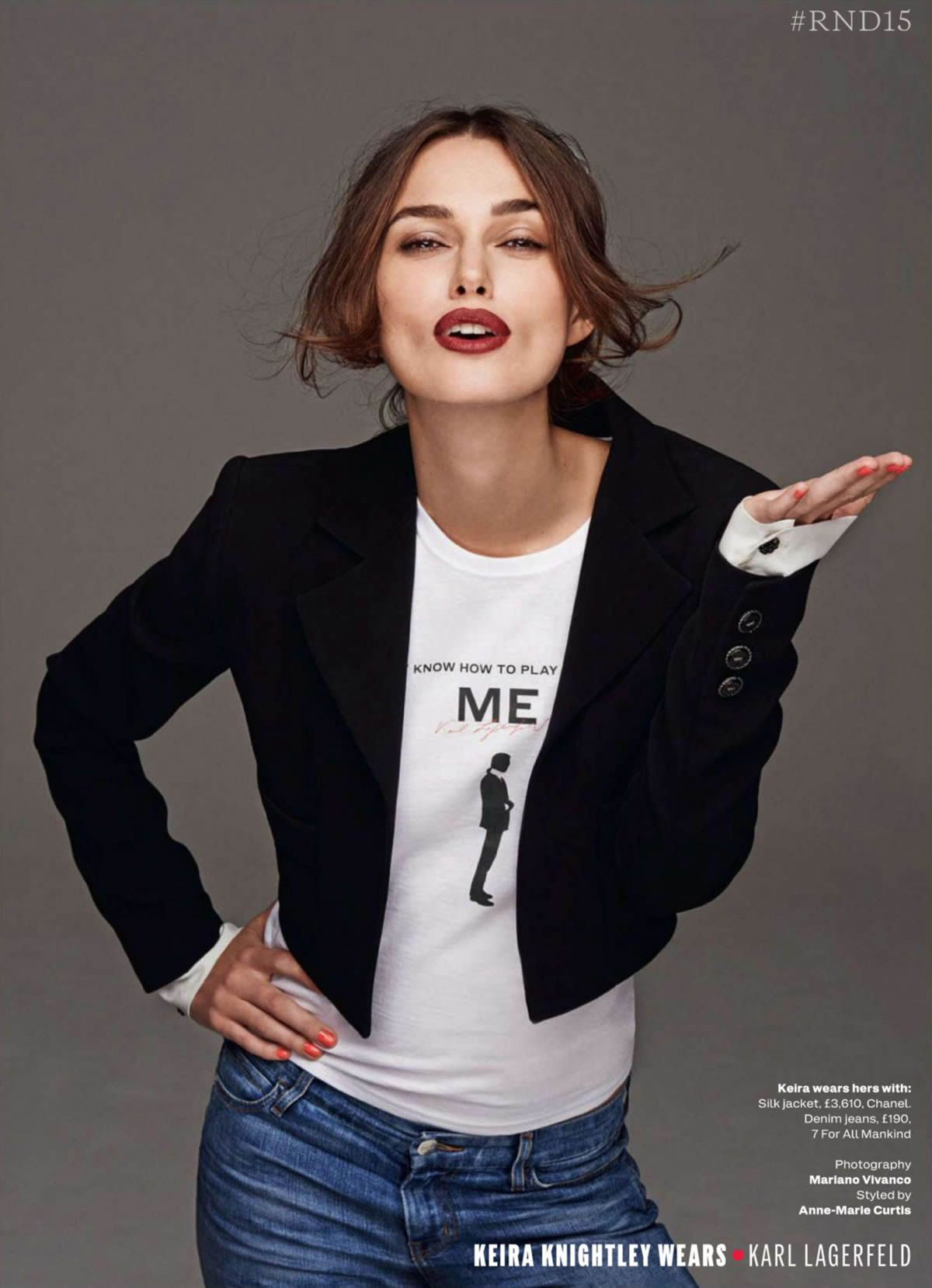 Keira Knightley in Chanel by Mariano Vivanco for Elle UK