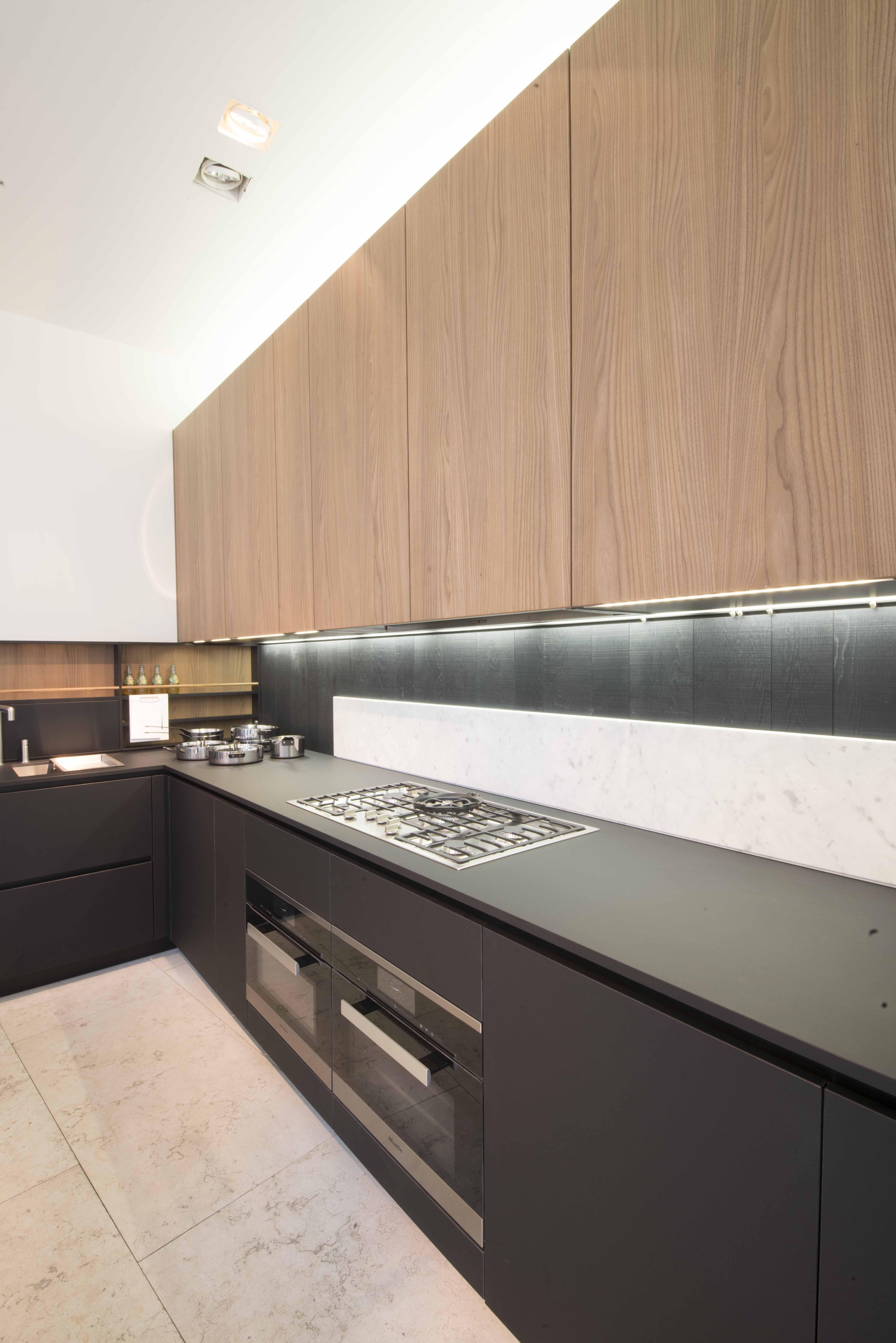 Küchenschranktüren | Kitchen Minimalist Transparent Glass Kitchen Wall
