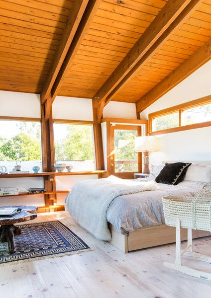 Bedroom Eyes - This Hollywood Hills A-Frame Home Is Magical - Photos