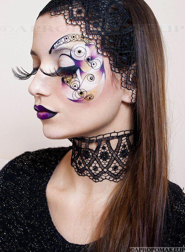 Artistic crystal enhanced purple, yellow and black fantasy