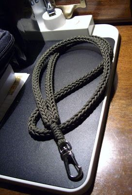 Type I Paracord Accessory Cord Spool Knit Neck Lanyard With