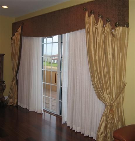 What are some patio door window treatment ideas?