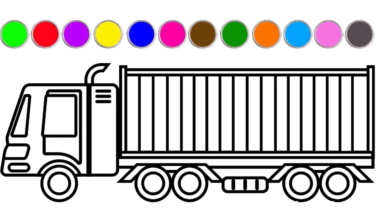 Car And Truck Coloring Pages Container Coloring Book For Kids Truck Coloring Pages Coloring Pages Coloring Books