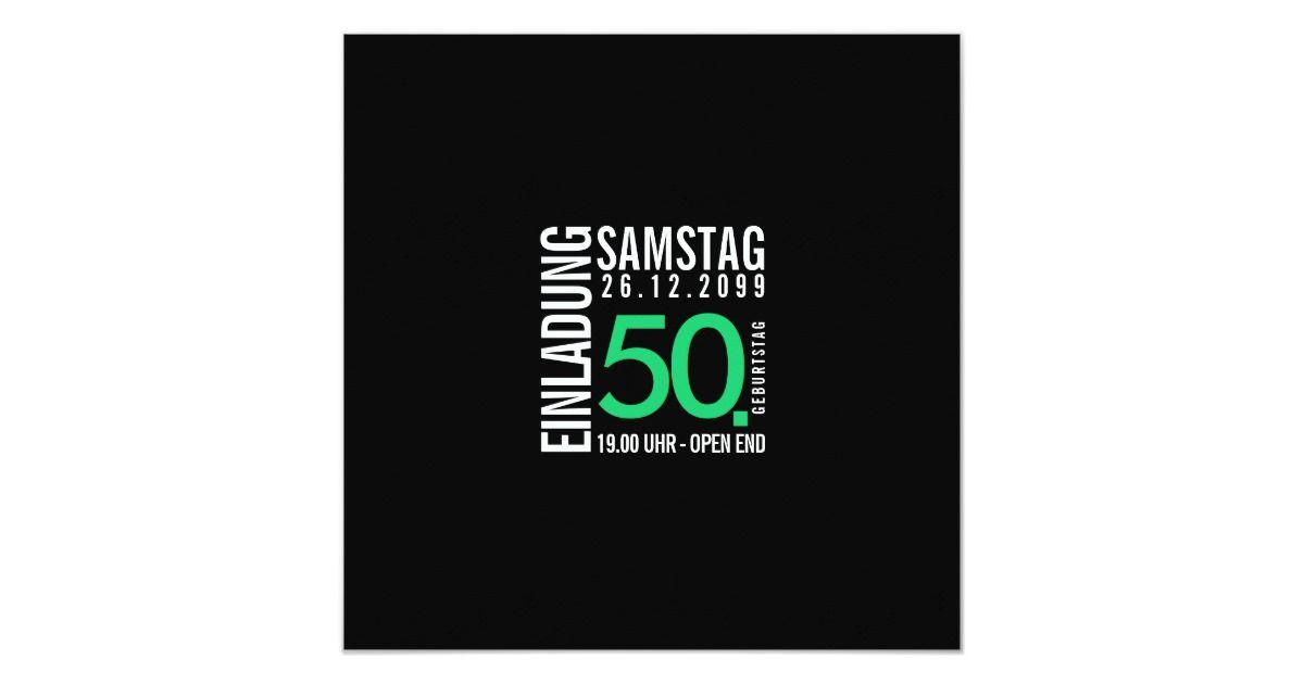 Handzeichen Einladung runder Geburtstag 50 Jahre Einladungskarten Karten