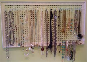 Framed Pegboard Jewelry Organizer My room Pinterest Room