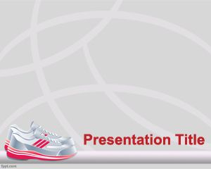 Sport shoes powerpoint template keynote pinterest corridas de sport shoes powerpoint template toneelgroepblik Images