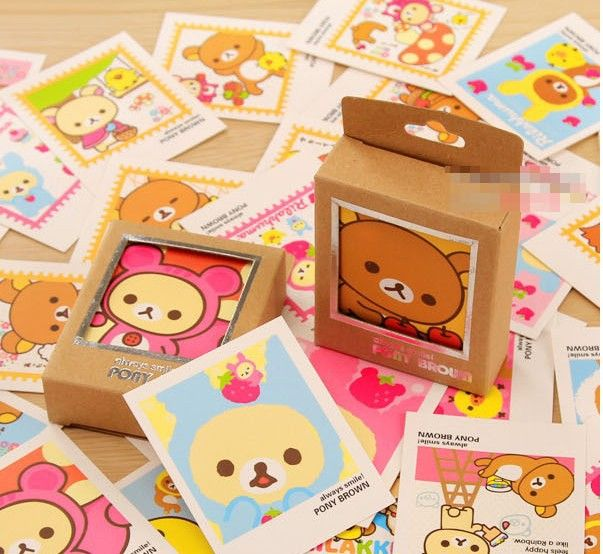 40 pcsset colorful rilakkuma single page type greeting cards kawaii type greeting cards kawaii stamp postcard set gift card wholesale kcs in greeting cards from office school supplies on aliexpress alibaba group m4hsunfo