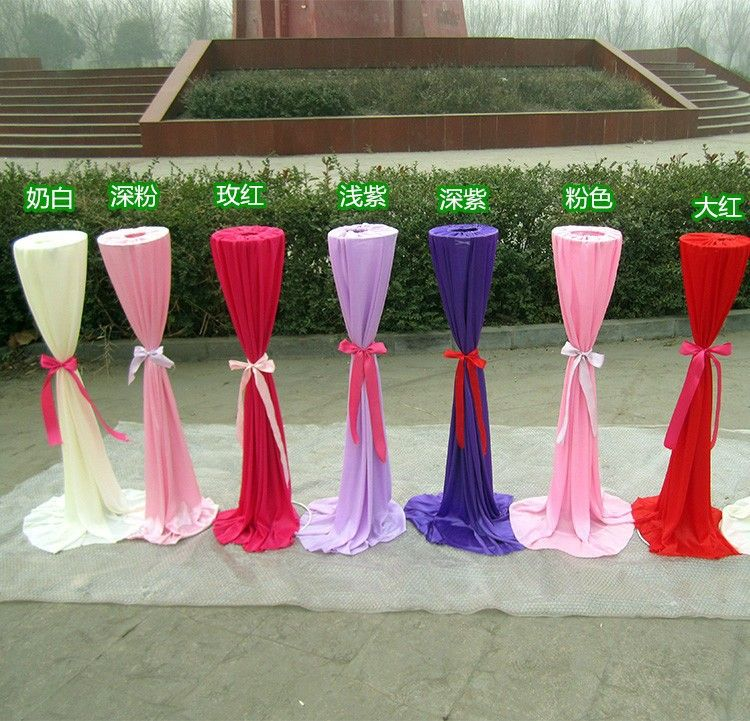 20 Pcs Wedding Road Lead With Silk Cloth Cover For Wedding