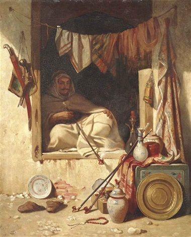 View past auction results for Alexandre GabrielDecamps Title: A seated Algerian