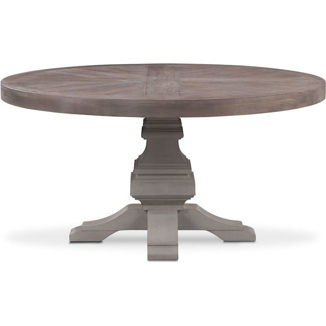 Lancaster 104 Wood Top Table With Urn Base Parchment Value City Furniture And Mattresses Interior Design Dining Room Furniture City Furniture