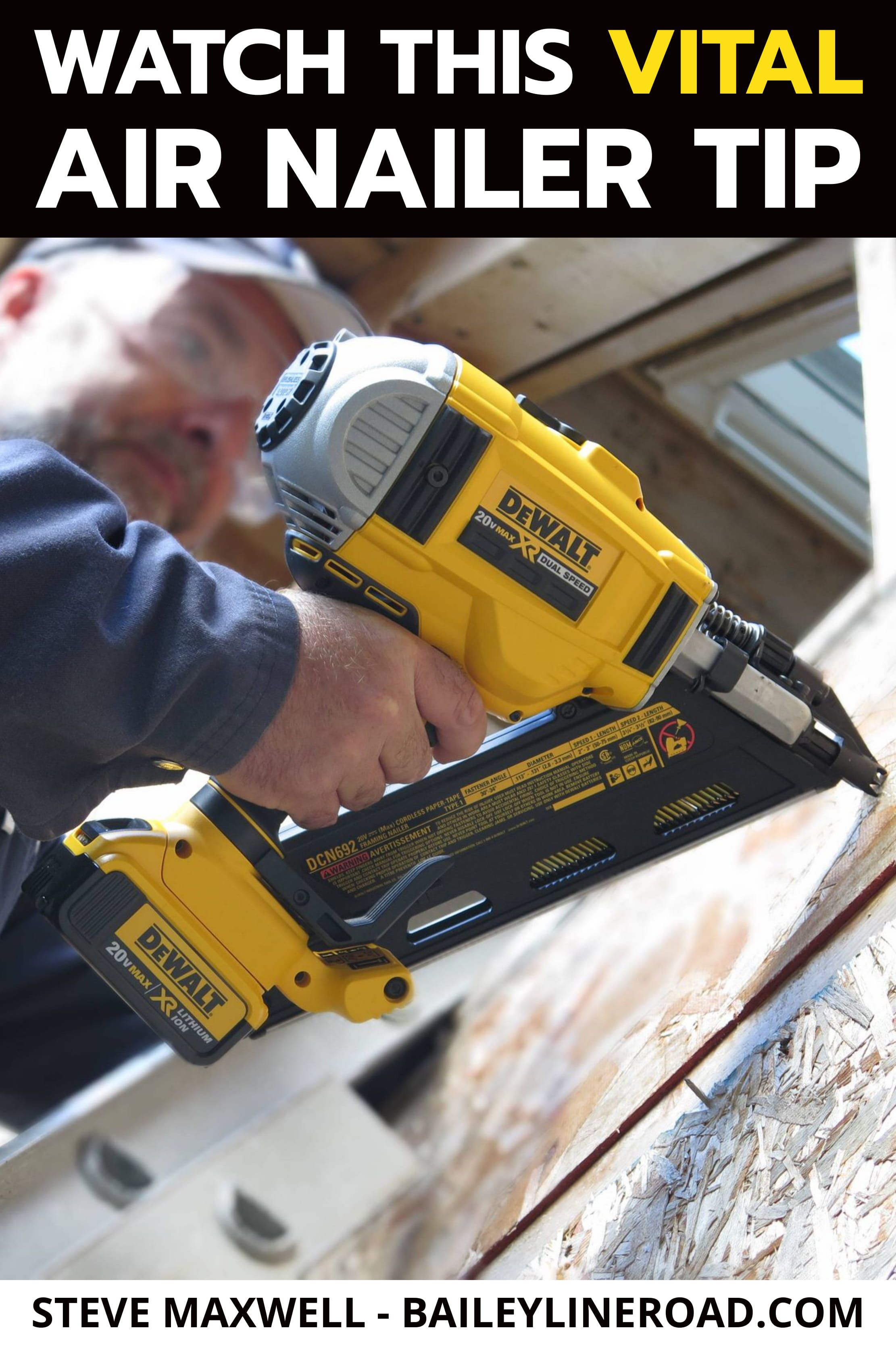 WOODWORKING Watch This Vital Air Nailer Safety Tip in