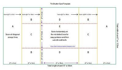 Die Pro (e) nickety Nahkämpfer: Tri-Shutter Kartenvorlagen und Tutorial (Variationen der verschiedenen Formen)